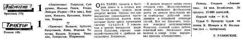 Локомотив (Гомель) - Трактор (Волгоград) 1:1. Нажмите, чтобы посмотреть истинный размер рисунка