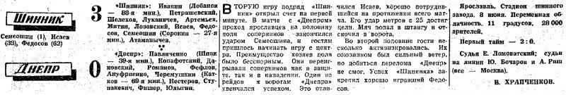 Шинник (Ярославль) - Днепр (Днепропетровск) 3:0. Нажмите, чтобы посмотреть истинный размер рисунка