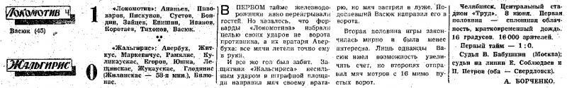 Локомотив (Челябинск) - Жальгирис (Вильнюс) 1:0. Нажмите, чтобы посмотреть истинный размер рисунка