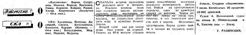 Локомотив (Гомель) - СКА (Новосибирск) 0:0. Нажмите, чтобы посмотреть истинный размер рисунка