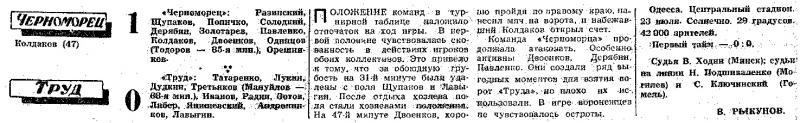Черноморец (Одесса) - Труд (Воронеж) 1:0. Нажмите, чтобы посмотреть истинный размер рисунка