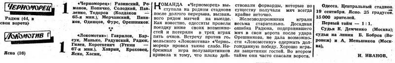 Черноморец (Одесса) - Локомотив (Гомель) 1:1. Нажмите, чтобы посмотреть истинный размер рисунка