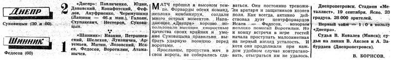 Днепр (Днепропетровск) - Шинник (Ярославль) 2:1. Нажмите, чтобы посмотреть истинный размер рисунка