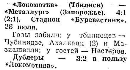 Локомотив (Тбилиси) - Металлург (Запорожье) 4:1