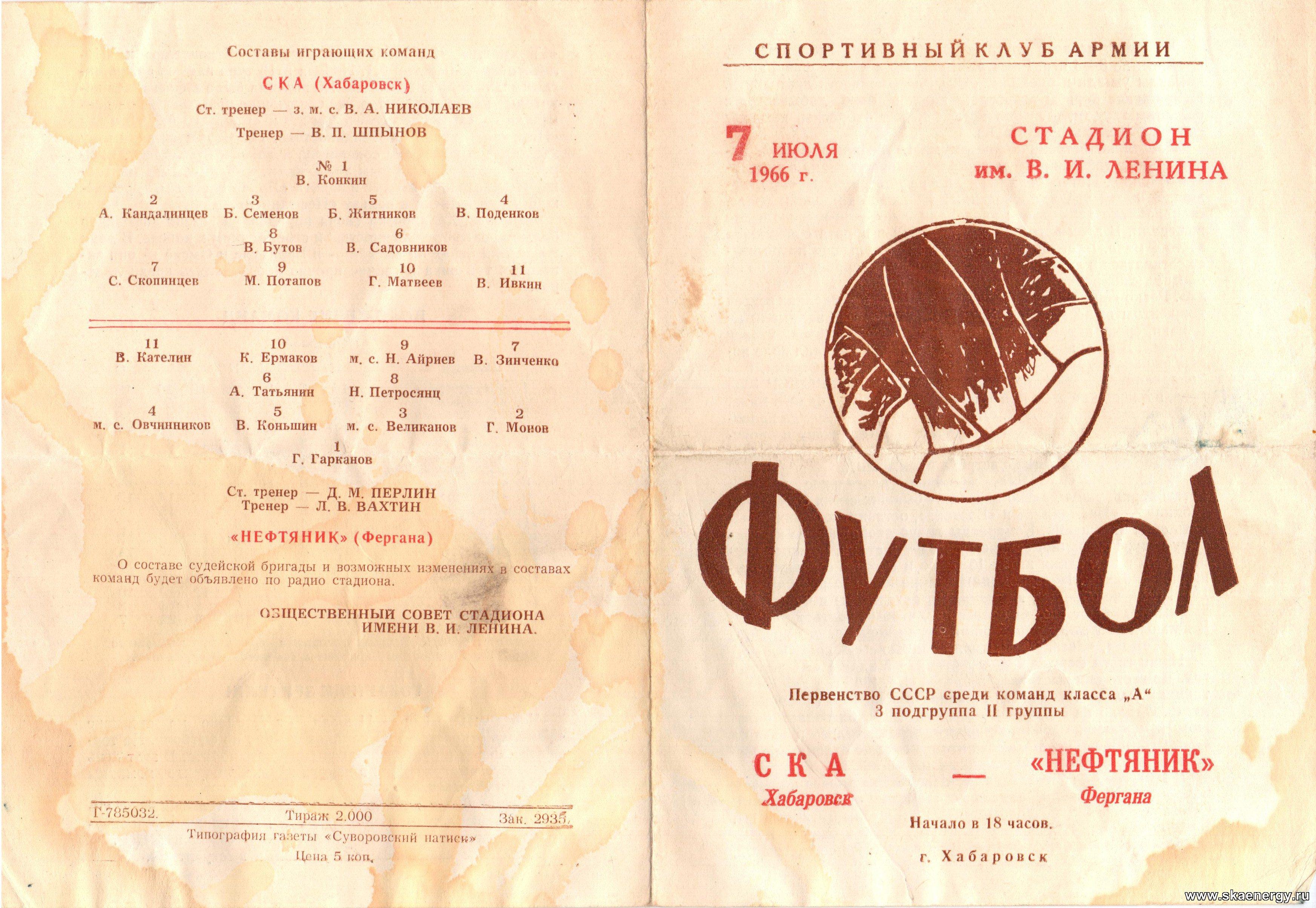 СКА (Хабаровск) - Нефтяник (Фергана) 1:1. Нажмите, чтобы посмотреть истинный размер рисунка