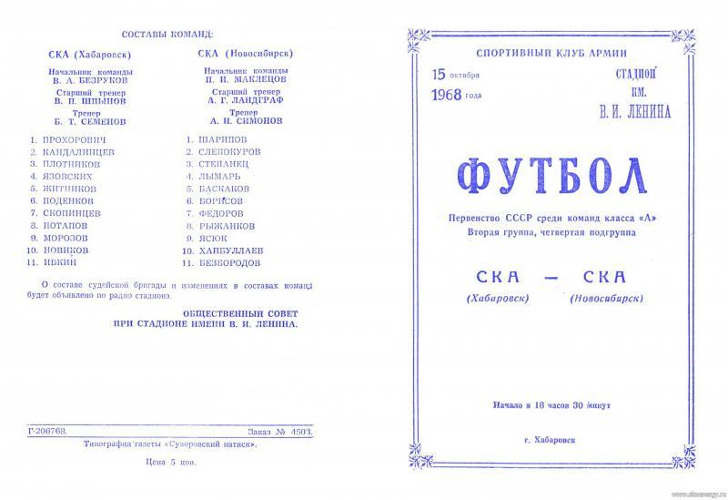 СКА (Хабаровск) - СКА (Новосибирск) 0:0. Нажмите, чтобы посмотреть истинный размер рисунка
