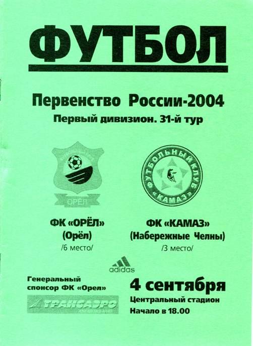ФК Орёл (Орёл) - КамАЗ (Набережные Челны) 1:0