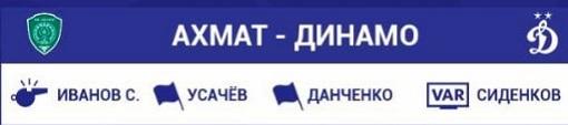 Судьи на Ахмат - Динамо