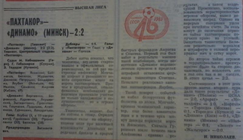 Пахтакор (Ташкент) - Динамо (Минск) 2:2. Нажмите, чтобы посмотреть истинный размер рисунка