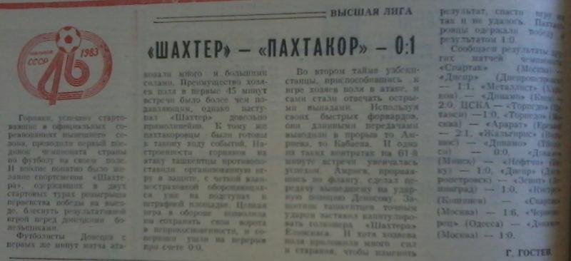 Шахтер (Донецк) - Пахтакор (Ташкент) 0:1. Нажмите, чтобы посмотреть истинный размер рисунка