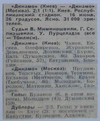 Динамо (Киев) - Динамо (Москва) 2:1