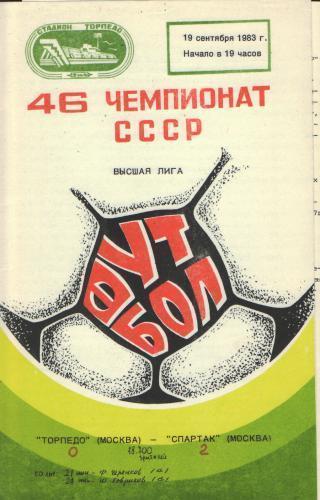 Торпедо (Москва) - Спартак (Москва) 0:2