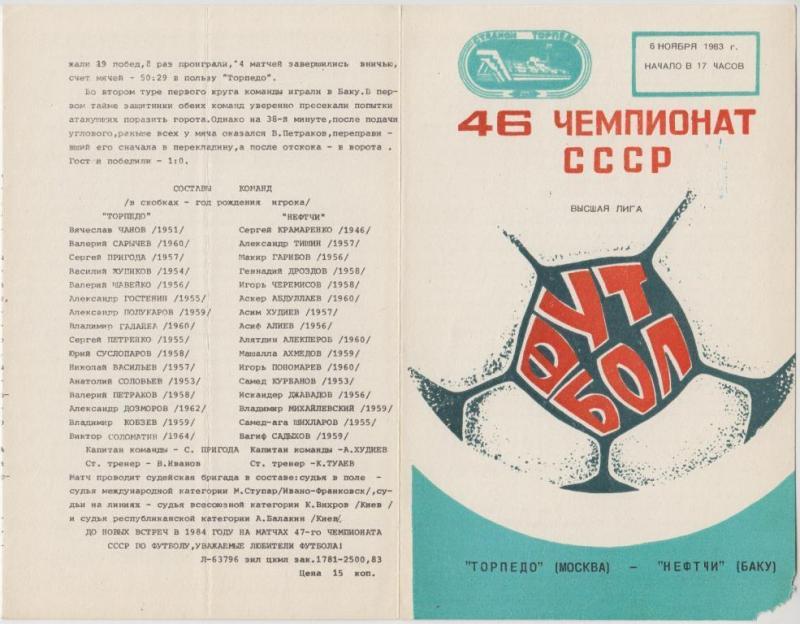 Торпедо (Москва) - Нефтчи (Баку) 0:0. Нажмите, чтобы посмотреть истинный размер рисунка