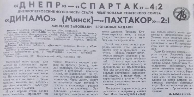 Динамо (Минск) - Пахтакор (Ташкент) 2:1