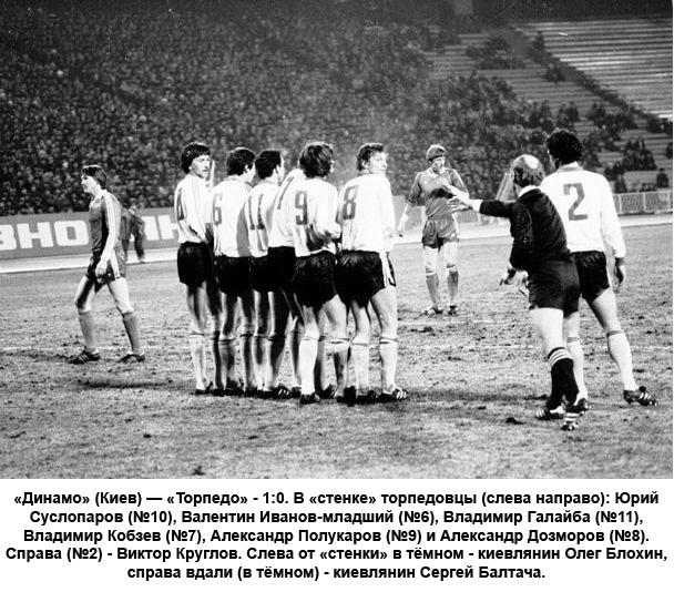 Динамо (Киев) - Торпедо (Москва) 1:0