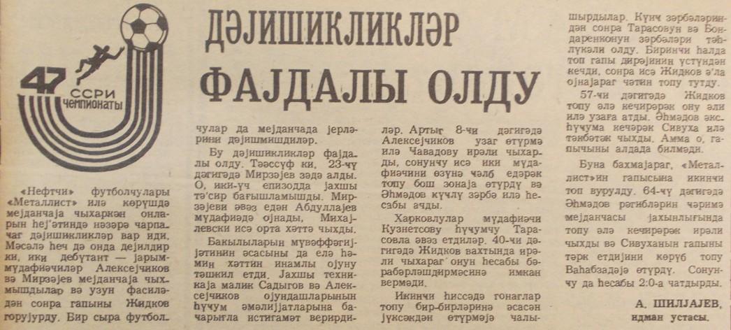 Нефтчи (Баку) - Металлист (Харьков) 2:0. Нажмите, чтобы посмотреть истинный размер рисунка