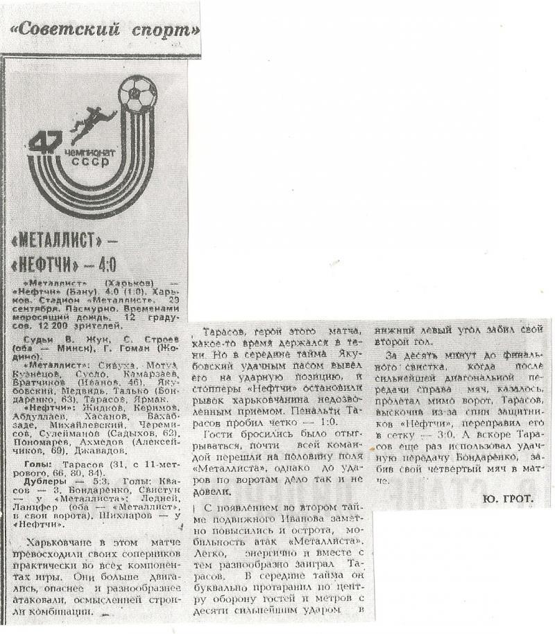 Металлист (Харьков) - Нефтчи (Баку) 4:0. Нажмите, чтобы посмотреть истинный размер рисунка