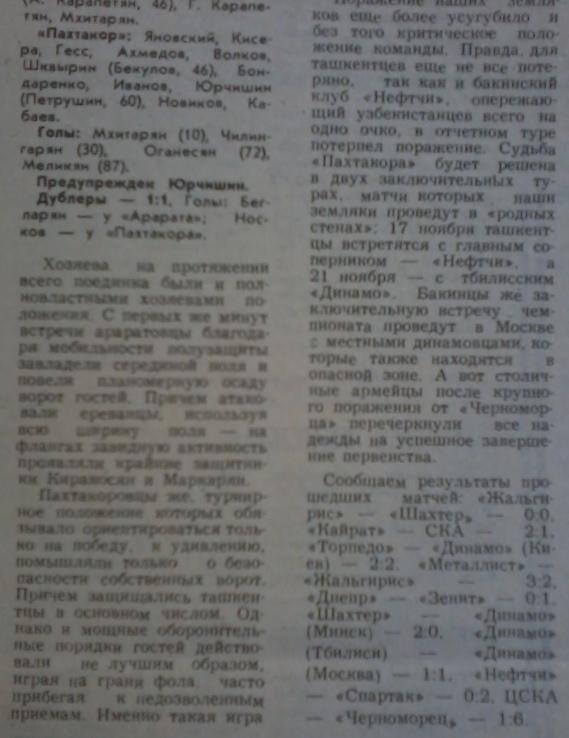 Арарат (Ереван) - Пахтакор (Ташкент) 4:0