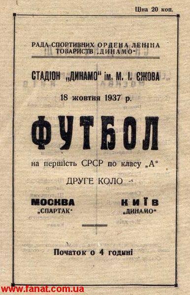 Динамо (Киев) - Спартак (Москва) 1:1