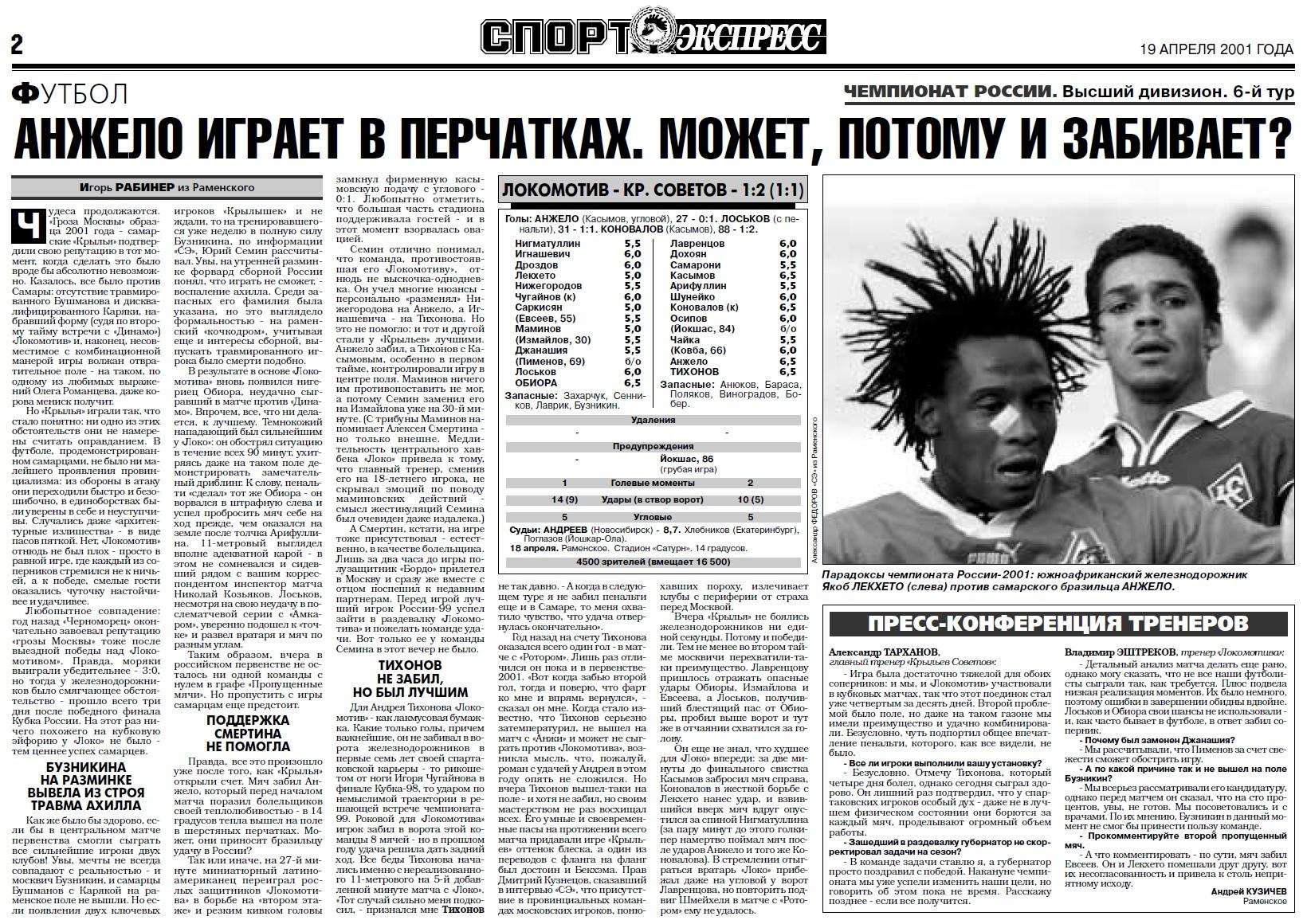 Локомотив (Москва) - Крылья Советов (Самара) 1:2. Нажмите, чтобы посмотреть истинный размер рисунка