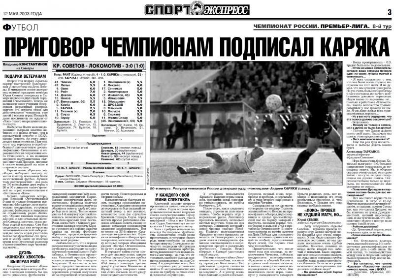 Крылья Советов (Самара) - Локомотив (Москва) 3:0. Нажмите, чтобы посмотреть истинный размер рисунка