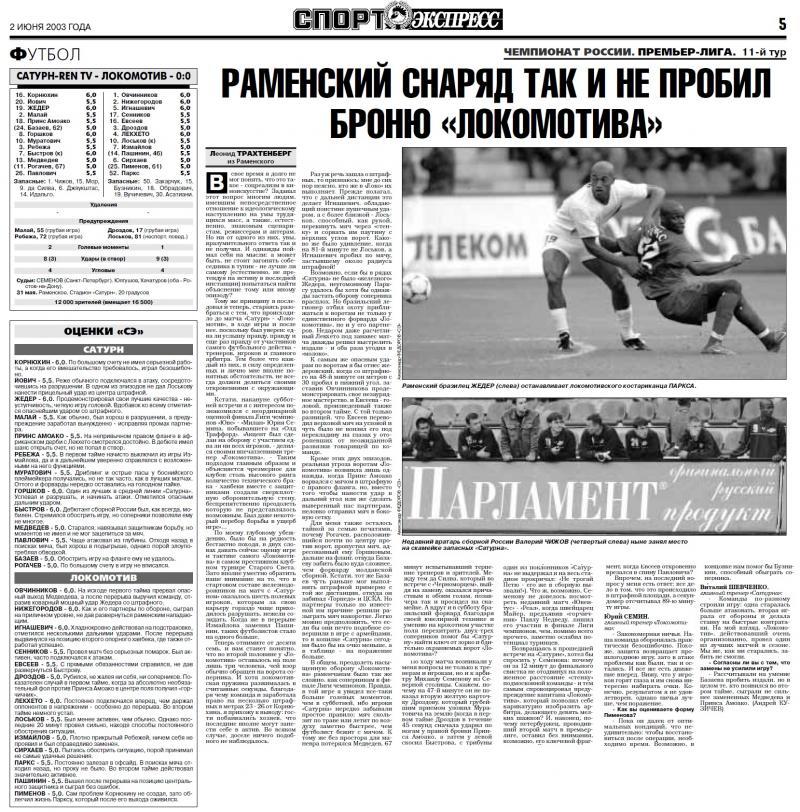 Сатурн-Ren TV (Раменское) - Локомотив (Москва) 0:0. Нажмите, чтобы посмотреть истинный размер рисунка