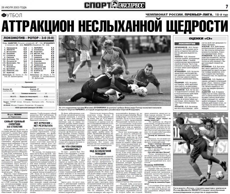 Локомотив (Москва) - Ротор (Волгоград) 3:0. Нажмите, чтобы посмотреть истинный размер рисунка