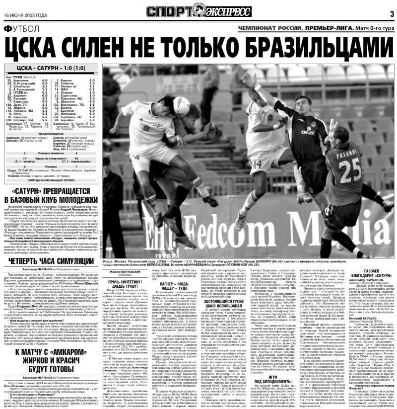 ЦСКА (Москва) - Сатурн (Раменское) 1:0. Нажмите, чтобы посмотреть истинный размер рисунка