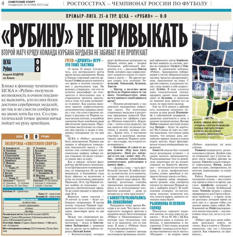ЦСКА (Москва) - Рубин (Казань) 0:0. Нажмите, чтобы посмотреть истинный размер рисунка
