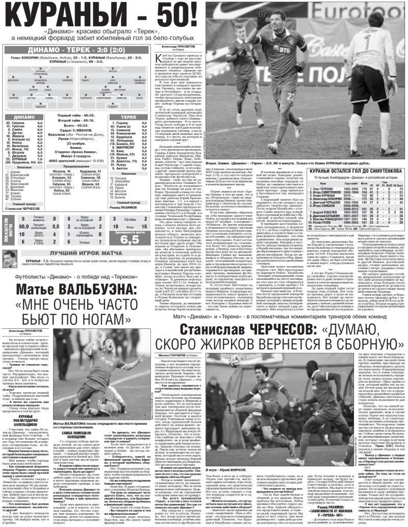 Динамо (Москва) - Терек (Грозный) 3:0. Нажмите, чтобы посмотреть истинный размер рисунка