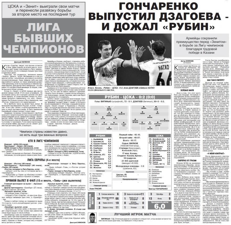 Рубин (Казань) - ЦСКА (Москва) 0:2. Нажмите, чтобы посмотреть истинный размер рисунка