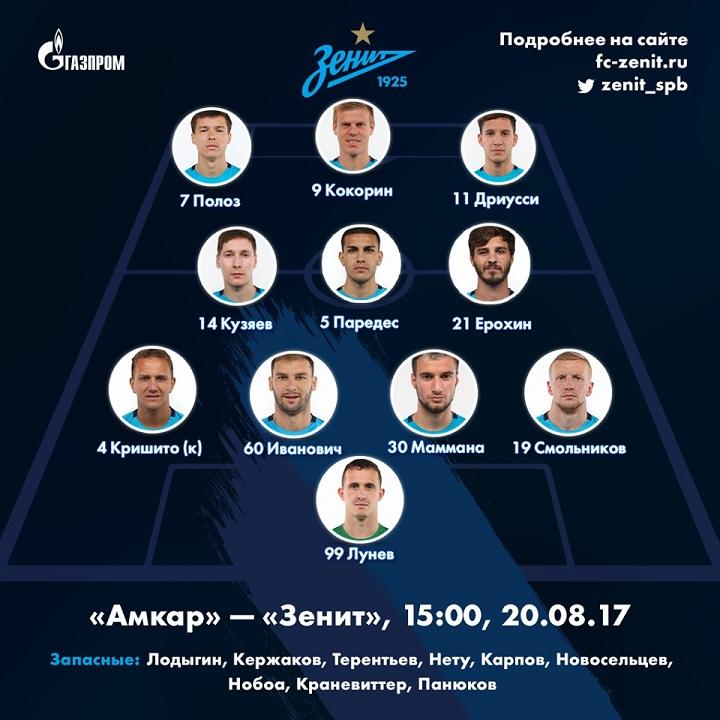 Амкар (Пермь) - Зенит (Санкт-Петербург) 0:1