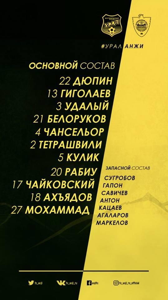 Урал (Екатеринбург) - Анжи (Махачкала) 0:1
