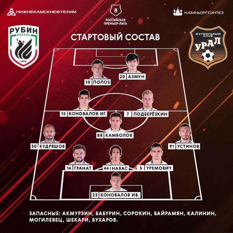 Рубин (Казань) - Урал (Екатеринбург) 1:0