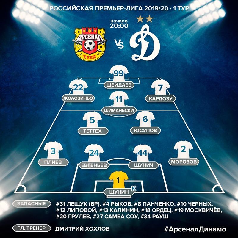 Арсенал (Тула) - Динамо (Москва) 1:1