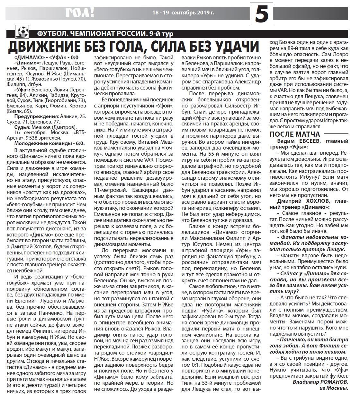 Динамо (Москва) - Уфа (Уфа) 0:0. Нажмите, чтобы посмотреть истинный размер рисунка