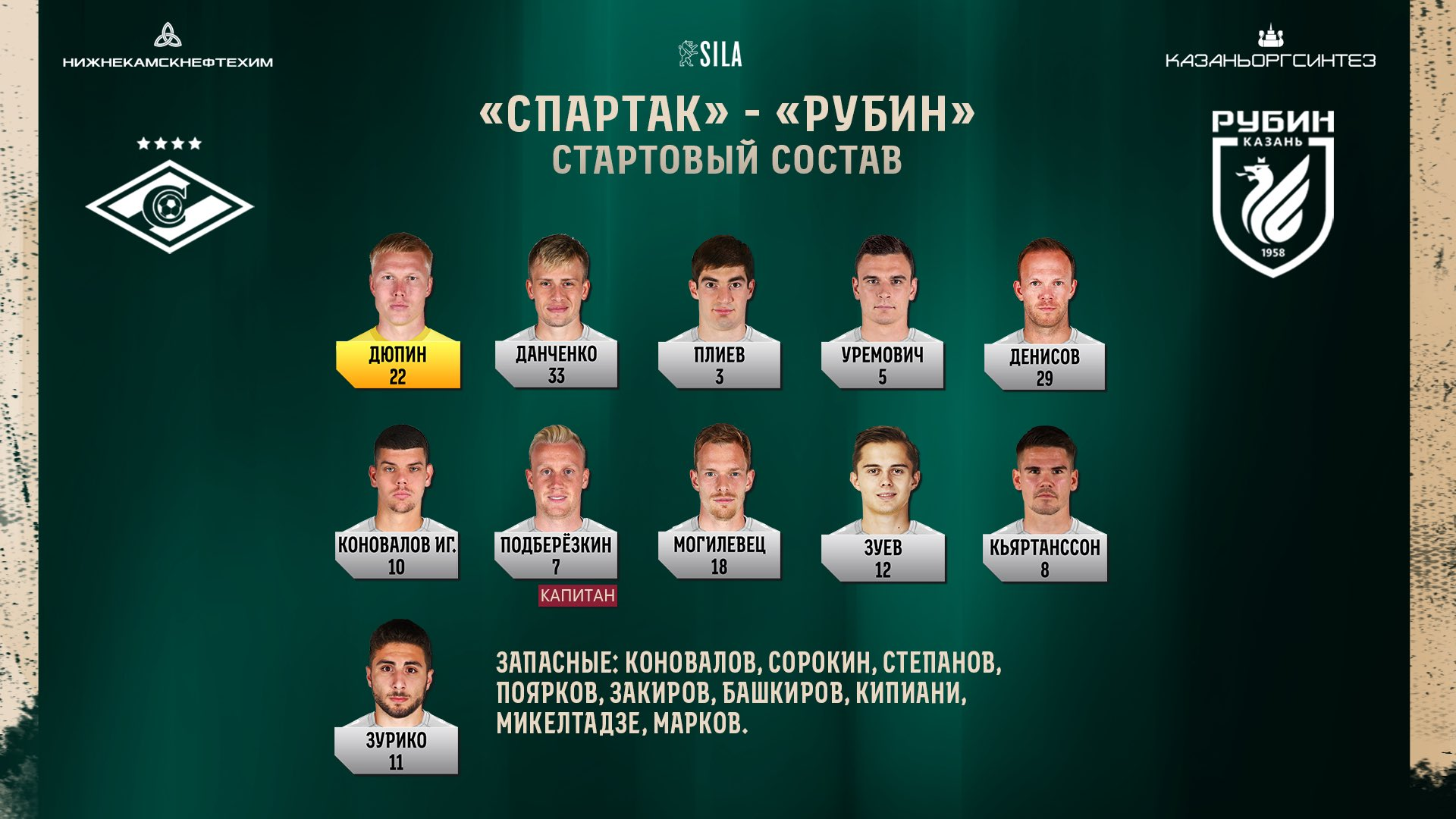 Спартак (Москва) - Рубин (Казань) 0:0. Нажмите, чтобы посмотреть истинный размер рисунка