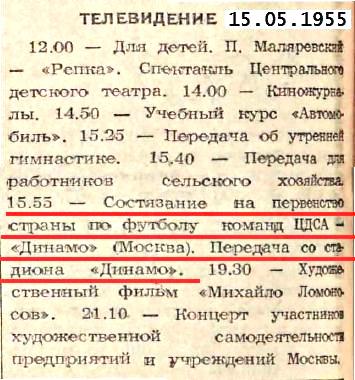 ЦДСА (Москва) - Динамо (Москва) 1:1
