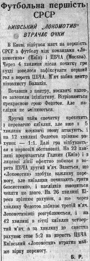 Локомотив (Киев) - ЦДКА (Москва) 2:5