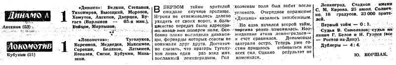 Динамо (Ленинград) - Локомотив (Москва) 1:1. Нажмите, чтобы посмотреть истинный размер рисунка