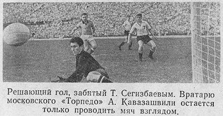 Кайрат (Алма-Ата) - Торпедо (Москва) 1:0