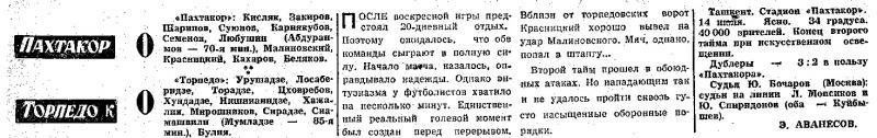 Пахтакор (Ташкент) - Торпедо (Кутаиси) 0:0. Нажмите, чтобы посмотреть истинный размер рисунка