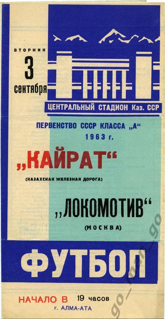 Кайрат (Алма-Ата) - Локомотив (Москва) 0:0