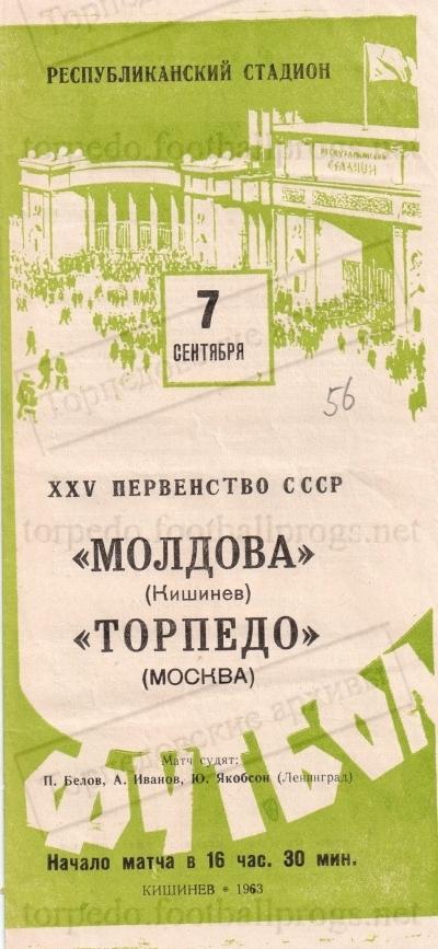 Молдова (Кишинев) - Торпедо (Москва) 1:1