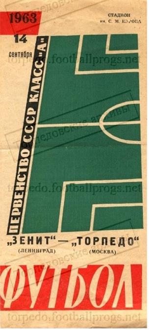 Зенит (Ленинград) - Торпедо (Москва) 0:0
