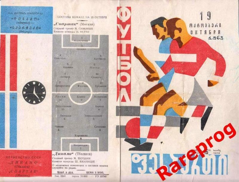 Динамо (Тбилиси) - Спартак (Москва) 1:0. Нажмите, чтобы посмотреть истинный размер рисунка