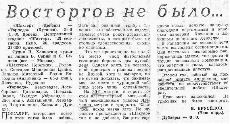 Шахтер (Донецк) - Торпедо (Кутаиси) 2:0. Нажмите, чтобы посмотреть истинный размер рисунка