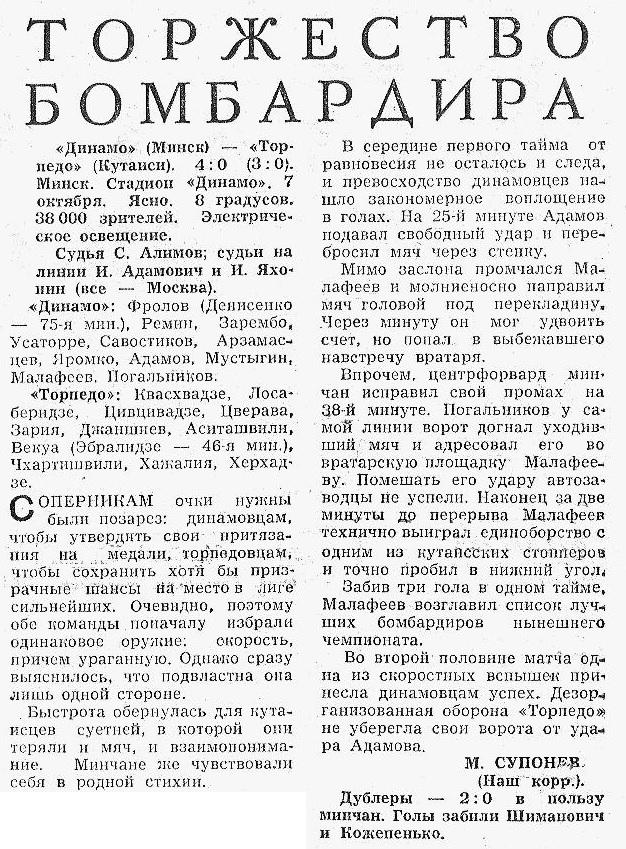 Динамо (Минск) - Торпедо (Кутаиси) 4:0