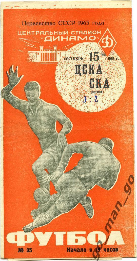 ЦСКА (Москва) - СКА (Одесса) 3:2