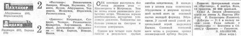Пахтакор (Ташкент) - Динамо (Тбилиси) 2:2. Нажмите, чтобы посмотреть истинный размер рисунка